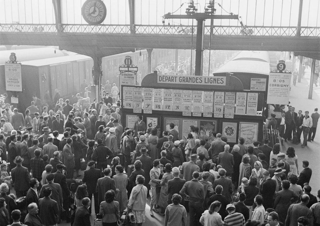 Grands départs et tableau général des départs en gare de Paris-Lyon, Lucien Delille, source : SNCF
