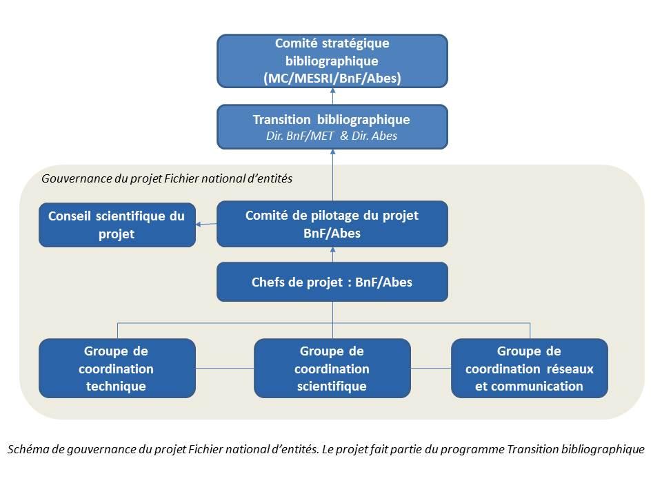Schéma de gouvernance du projet FNE