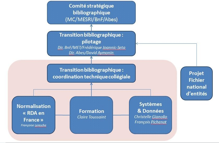 Schéma organisationnel de la transition bibliographique - mars 2021