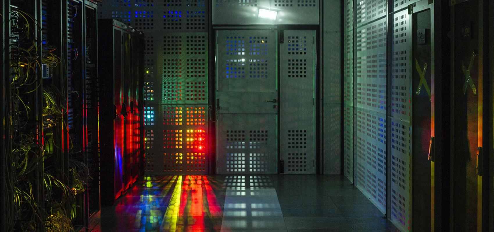 Salle des machines de la BnF © Gilles Coulon, BnF